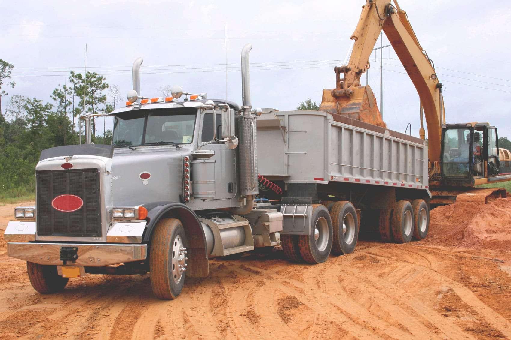 Dump Truck Construction Haul Off for Sand, Dirt